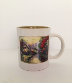 Attractive Thomas Kinkade A Quiet Evening 2003 Mug Cug Collectable Thomas Kinkade Listings Oversized Latte Mugs
