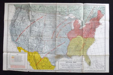 railroad freight clification territories vintage united