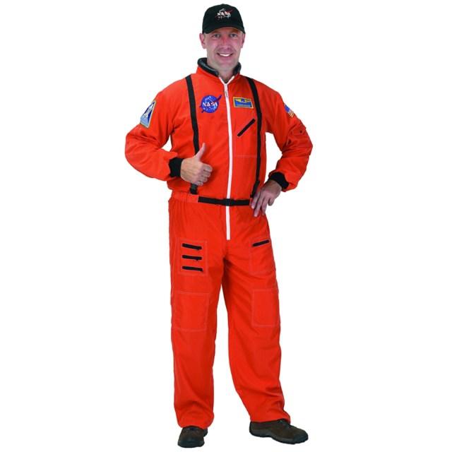NASA Astronaut Suit Orange Adult Costume