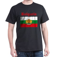 Bulgarian Flag Black T-Shirt