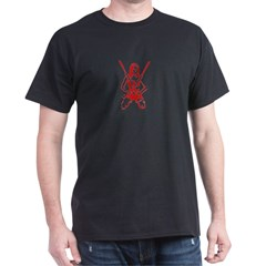 Female Warrior - Black T-Shirt