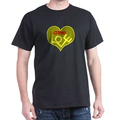 One Love Black T-Shirt