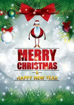 small of christmas and new year greetings