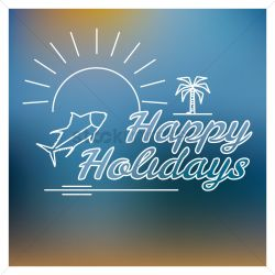 Exciting Happy Holidays Card Vector Graphic Happy Holidays Card Vector Image Stockunlimited 123greetings Happy Holidays Cards Free Download