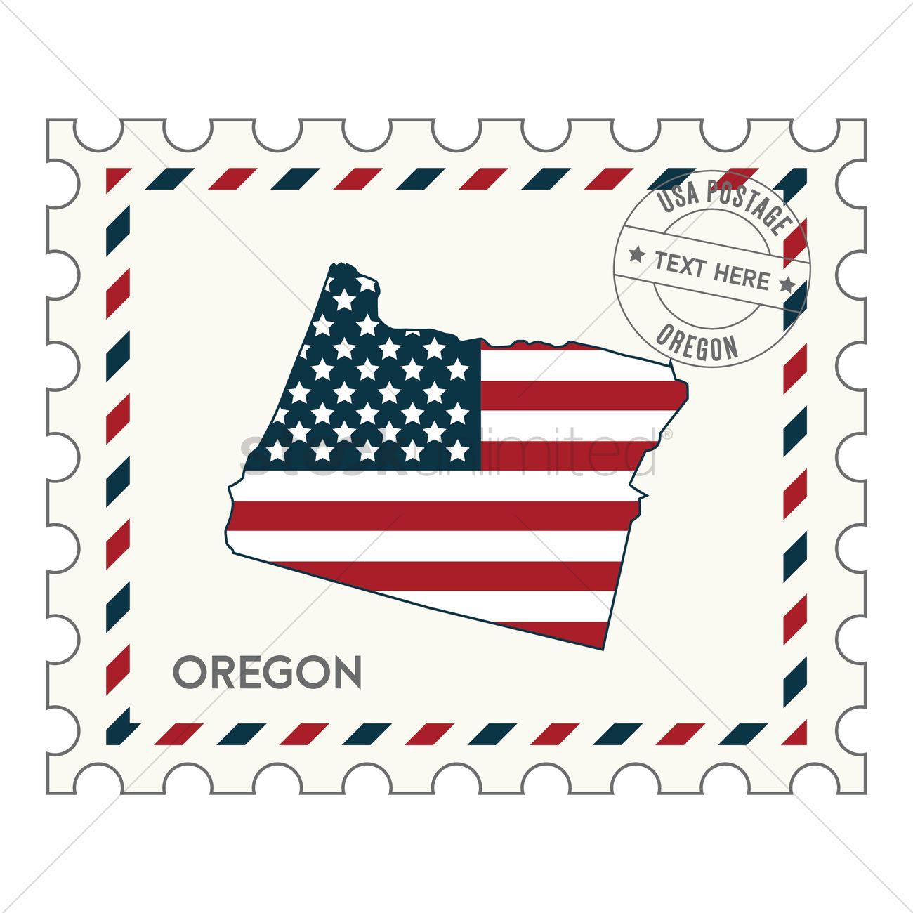 Astonishing Oregon Postage Stamp Vector Graphic Oregon Postage Stamp Vector Image Stockunlimited Postcard Stamp Value Post Card Stamp Cost inspiration Post Card Stamp