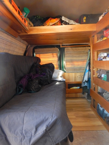 When The Bed Is Slid In It Tremendously Opens Up Van And Makes Much More Comfortable