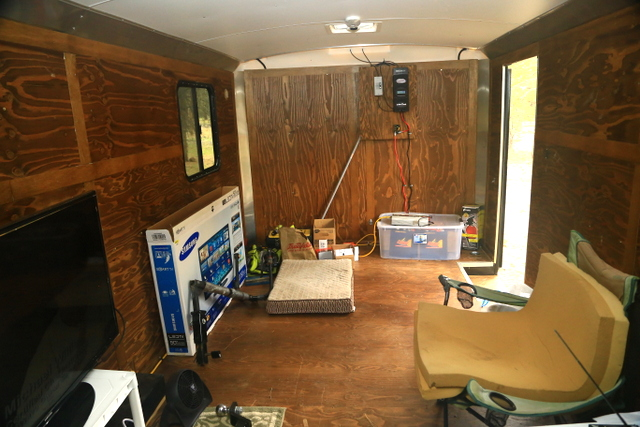 Man Cave Trailer : Cheap rv living a cargo trailer quot man cave