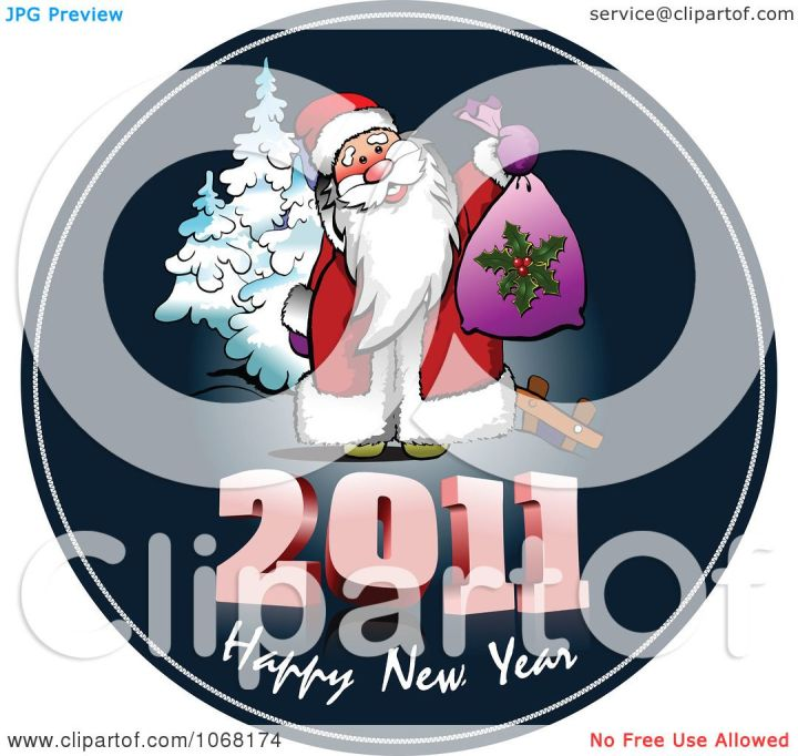 Clipart 2011 Happy New Year Santa Greeting  Royalty Free Vector . 1080 x 1024.Happy New Year Greeting Samples For Business
