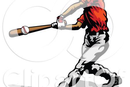 clipart of a baseball batter hitting a ball royalty free vector illustration 10241171596