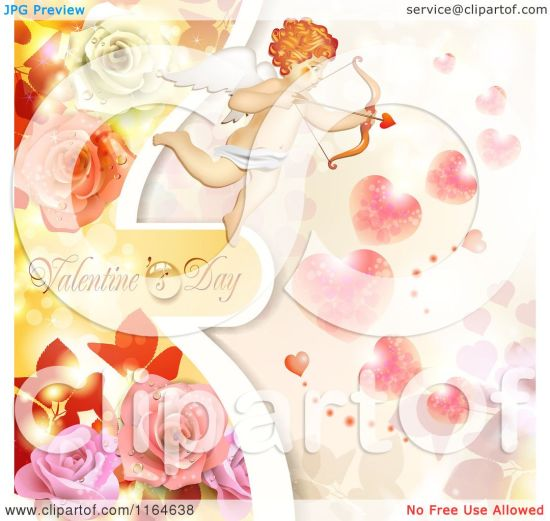 Of A Valentines Day Background With Cupid Roses Text And Hearts . 1080 x 1024.Free Valentine Heart Images Cupid
