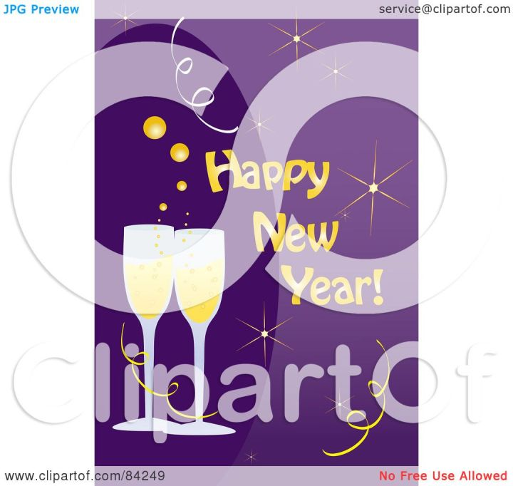 RoyaltyFree RF Clipart Illustration Of A Happy New Year Greeting . 1080 x 1024.Happy New Year Greeting Samples For Business