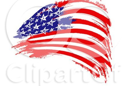 1130515 clipart of a painted american flag royalty free cgi illustration