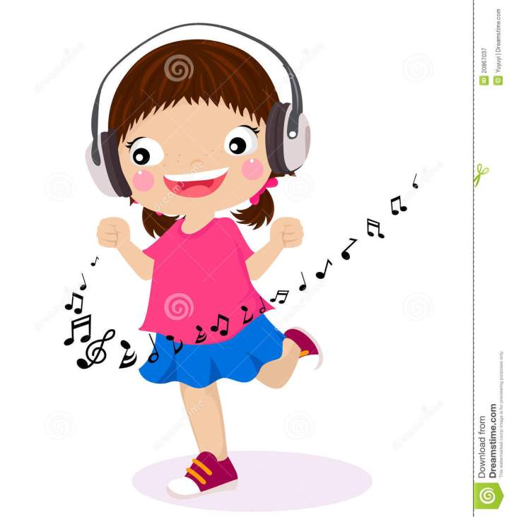 Kids Listening to Music Clip Art Kids Listening to Music Clipart Dancing Girl Listen Music Headphones