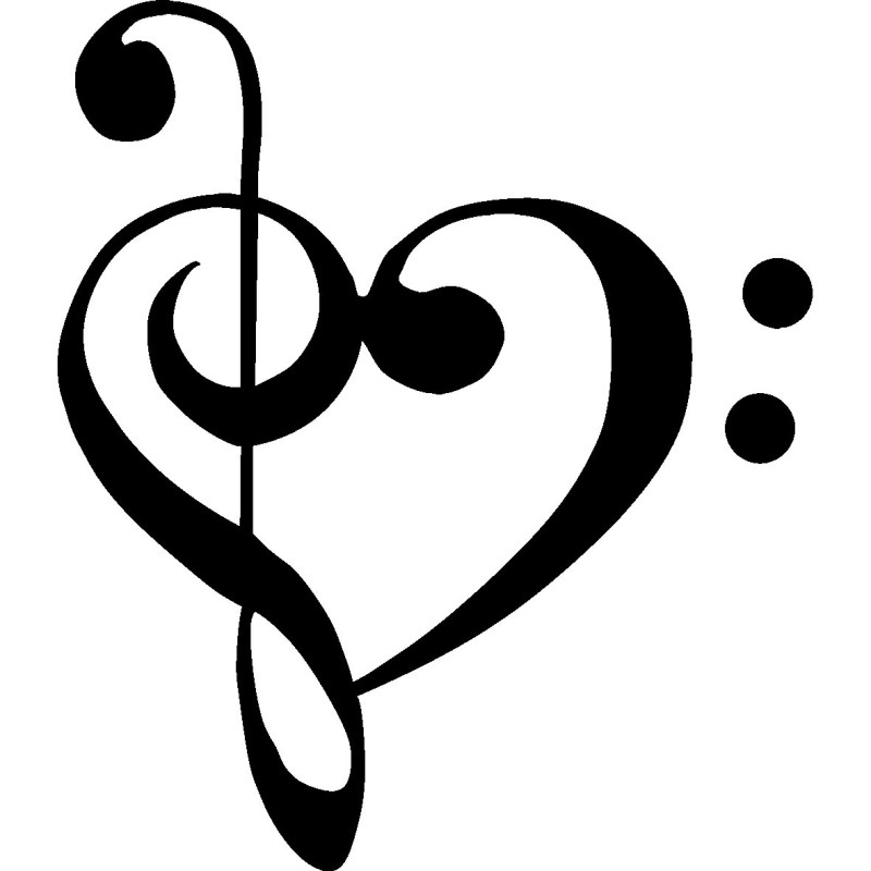 Large Of Music Notes Heart