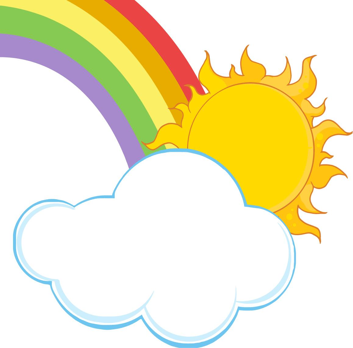 clipart rainbow with clouds - photo #33