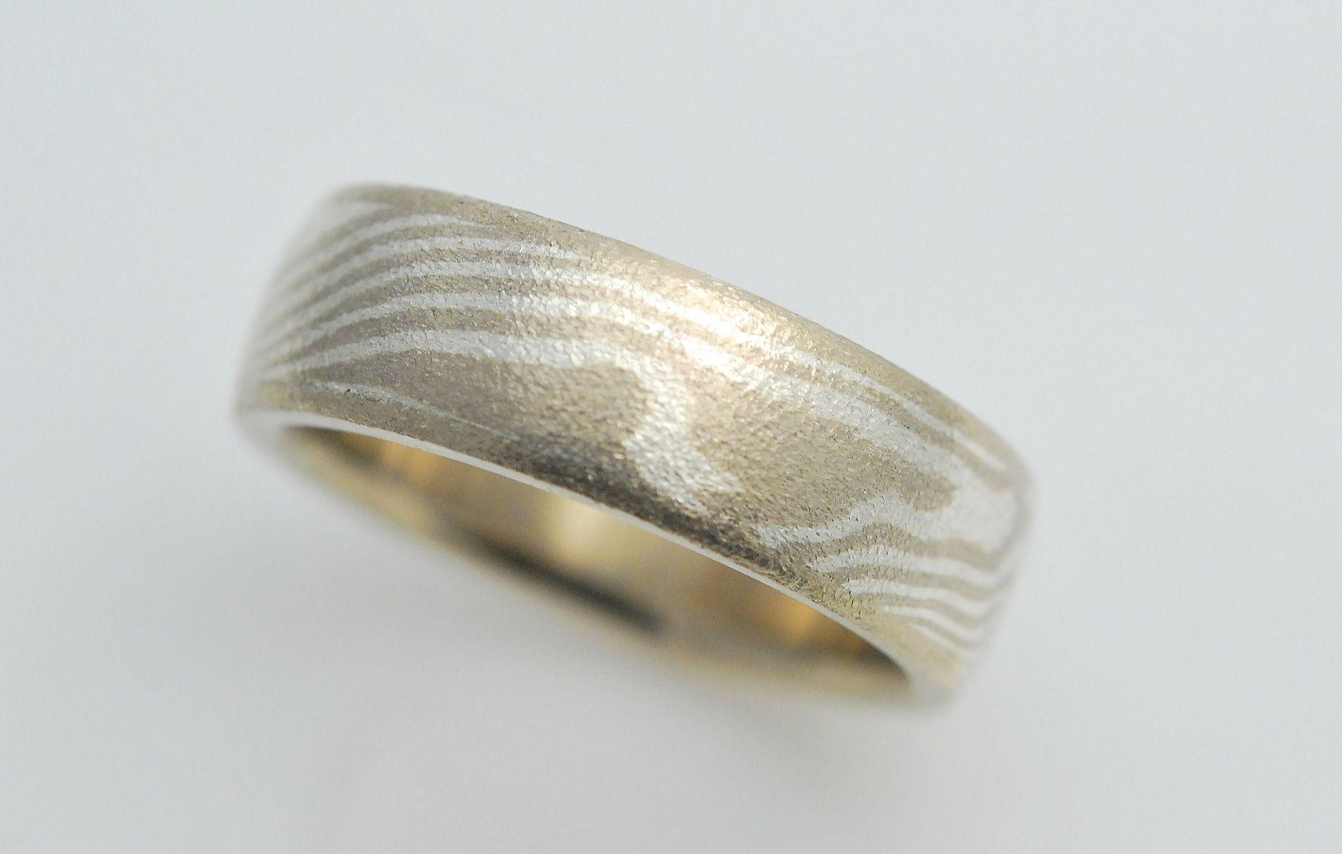 mokume gane wedding rings mokume gane wedding bands Mokume gane wedding rings 14k Palladium White Gold With Sterling Silver Mokume Gane Ring By