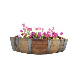 Small Crop Of Wine Barrel Planter