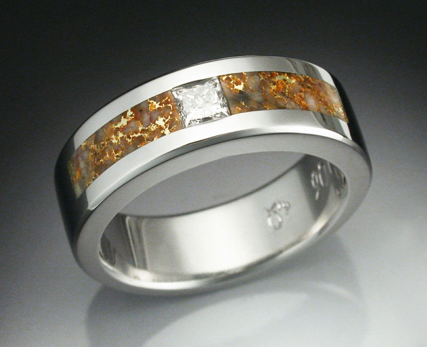 custom wedding rings men man wedding ring Custom wedding rings men Custom Made Man S Diamond Ring In Platinum Inlaid With Gold
