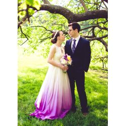 Small Crop Of Ombre Wedding Dress