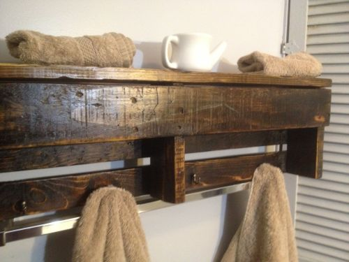 Medium Of Wooden Shelf Bathroom