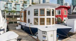 Popular Sale This Tiny Home Float Home Is Sale For Coal Harbour Engel Tiny Float Home Sale Vancouver Wa Floating Homes Coal Harbour Daily Hive Floating Homes Sale Gulf Coast