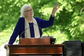 Molly Ivins speaking at Scripps College