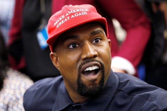 Rapper Kanye West speaks during a meeting with U.S. President Donald Trump in the Oval Office at the White House in Washington, U.S., October 11, 2018. REUTERS/Kevin Lamarque - RC16CAE568A0