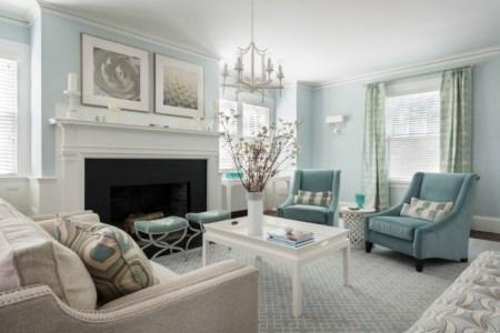 blue living room decorating idea