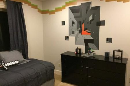 minecraft bedroom wall border decor