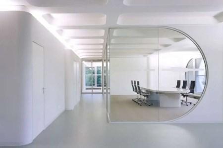white minimalist office design