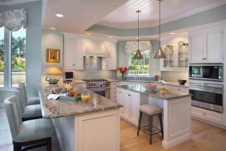 luxury kitchen with breakfast bar