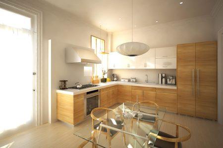 modern l shaped kitchen design