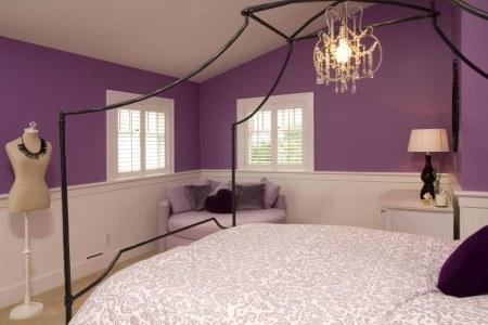solid purple kids bedroom ideas