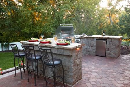 simple stone kitchen island bar ideas