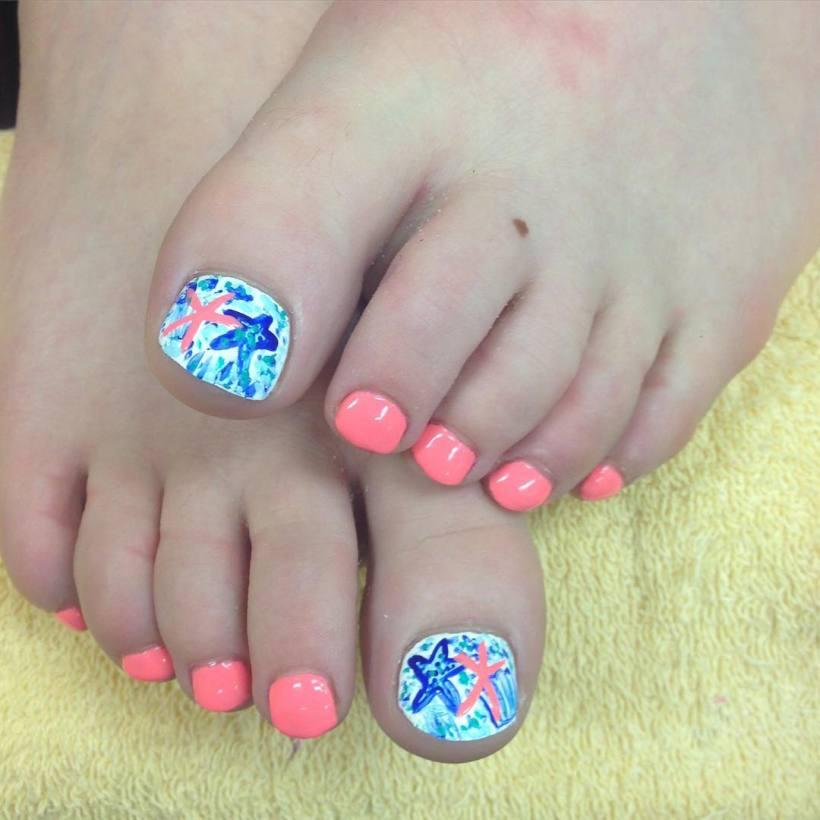 Toe Nail Art Designs For Summer | Yoktravels.com