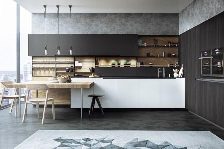 clic monochrome kitchen