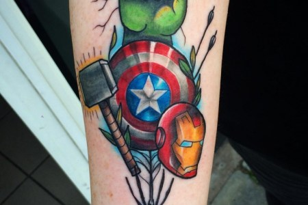 hulk hand tattoo design
