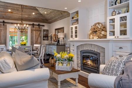 farmhouse chic living room design