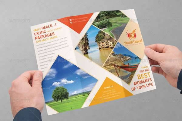 26  Travel Brochure Designs   Design Trends   Premium PSD  Vector     Travel Business Trifold Brochure