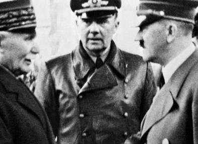 Petain choca esos cinco con Hitler (24 de Octubre de 1940)