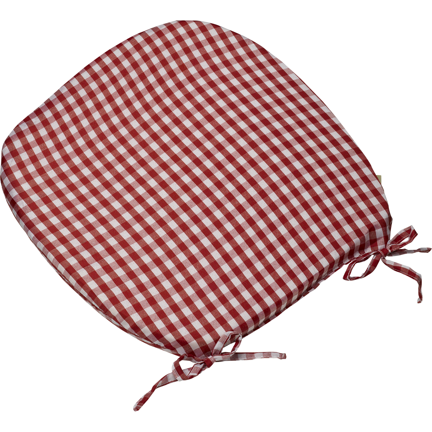 kitchen chair seat cushions with ties cushions for kitchen chairs Gingham Check Tie On Seat Pad 16 X 16 Kitchen Outdoor Dining Chair Cushion Ebay