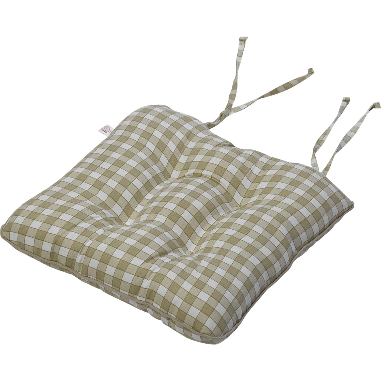 gingham kitchen chair cushions rKSfaFBMGKPSPJ kitchen chair seat cushions Blue Gingham Check Kitchen Chair Seat Pad Cotton