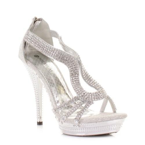 silver heels for wedding Cheap Silver Low Heels