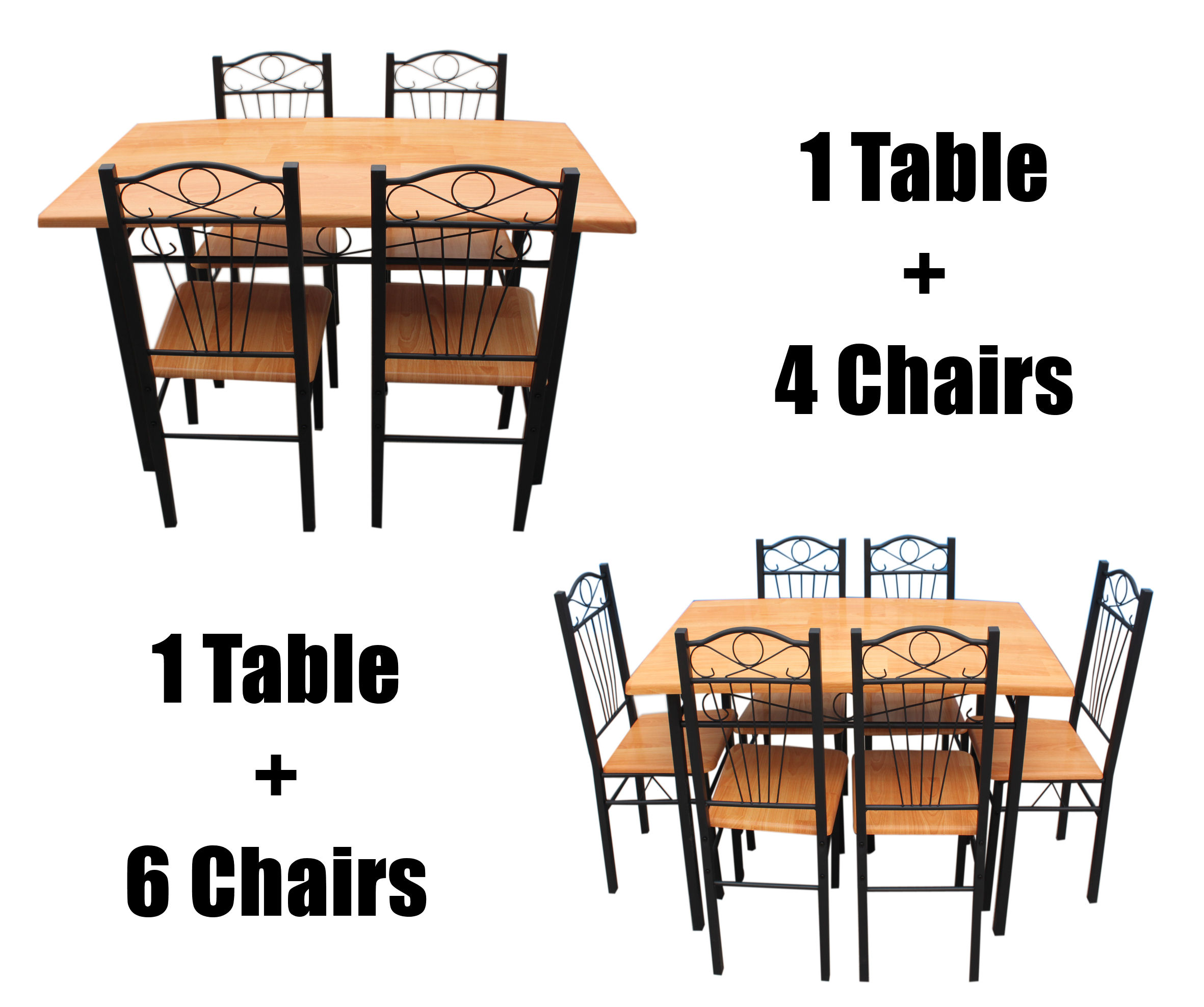 metal kitchen chairs Image is loading New Kitchen Dining Set with Table Chairs Metal