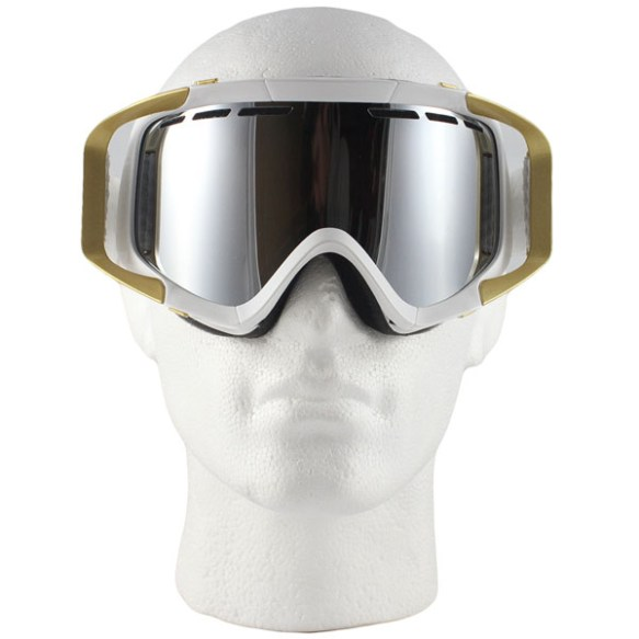 Von Zipper Porkchop snowboard ski goggles 2010 in Snow White Bronze Chrome Lens