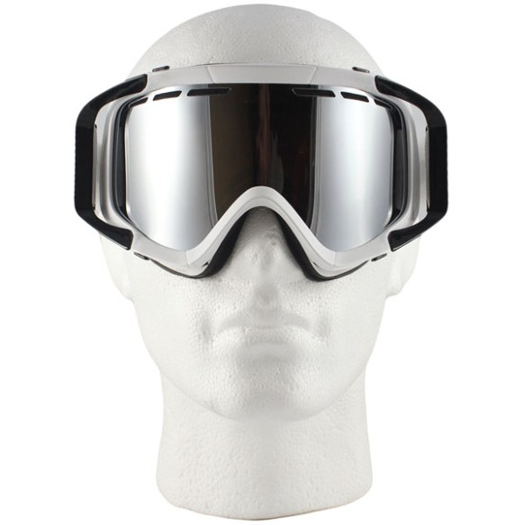Von Zipper Porkchop snowboard ski goggles 2011 in White Bronze Chrome Lens