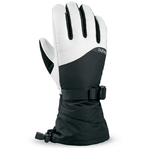 Dakine Womens Sable Snowboard Ski Gloves 2011 in Black White