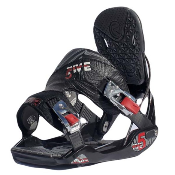 Flow Five Snowboard bindings 2013 in Black Size Medium