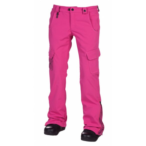 686 Reserved Crown Softshell Womens Snowboard Pants Magenta Sample Medium 2013