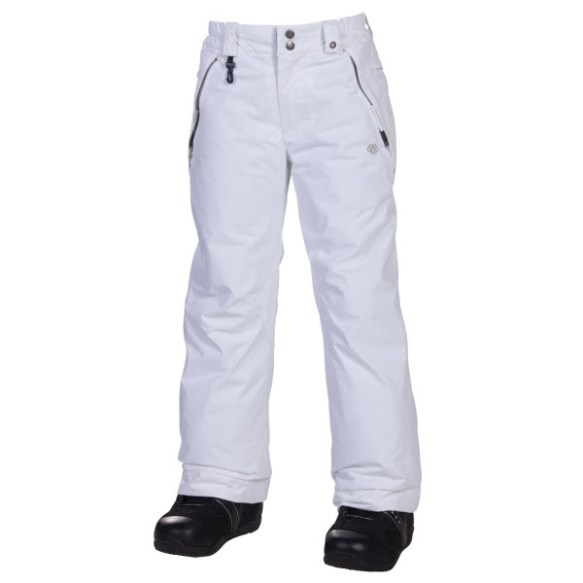 686 Girls Mannual Brandy Snowboard Pants White Medium Age 10/12 Sample 2013